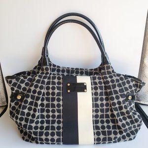 Kate Spade Classic Stevie Diaper Bag - Black/White